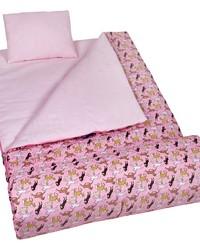 Horses in Pink Sleeping Bag by