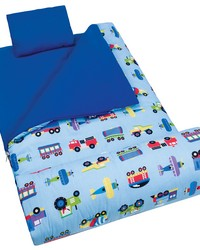 Olive Kids Trains Planes Trucks  Sleeping Bag by