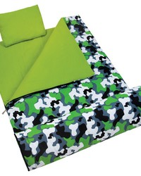 Green Camo Sleeping Bag by
