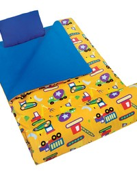 Olive Kids Under Construction Sleeping Bag by
