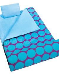 Big Dot Aqua Sleeping Bag by