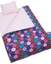 Peace Signs Purple Sleeping Bag by