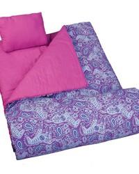 Watercolor Ponies Purple Sleeping Bag by
