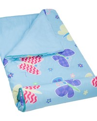 Olive Kids Butterfly Garden Microfiber Sleeping Bag by