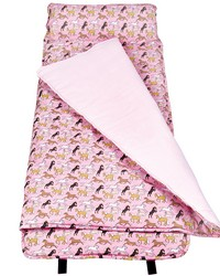 Horses in Pink Nap Mat by