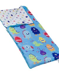 Olive Kids Monsters Microfiber Sleeping Bag and Pillow Case by