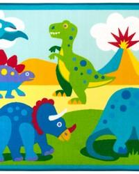 Olive Kids Dinosaur Land 39x58 Rug by