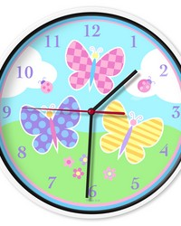 Olive Kids Butterfly Garden Wall Clock by