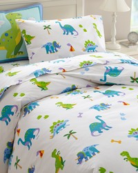 Olive Kids Dinosaur Land Twin Duvet Cover by