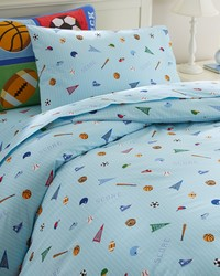 Olive Kids Game On Twin Duvet Cover by