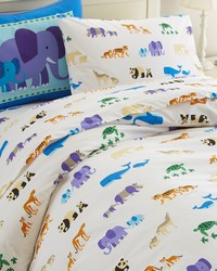 Olive Kids Endangered Animals Twin Duvet Cover by