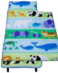 Olive Kids Endangered Animals Cotton Nap Mat Green by