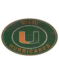 Miami Hurricanes 46 Inch Wall Art by