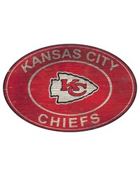 Kansas City Chiefs 46 Inch Wall Art by