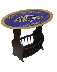 Baltimore Ravens End Table by