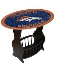 Denver Broncos End Table by