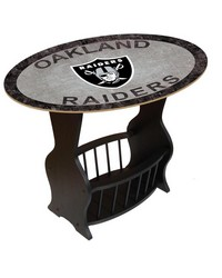 Oakland Raiders End Table by