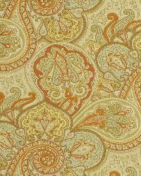 Yellow Classic Paisley Fabric  Snappy Swirls Sunset