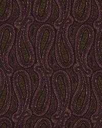 Purple Classic Paisley Fabric  Shiny Paisley Mulberry