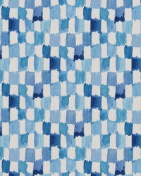 Blue Abstract Fabric  DP42675 171 Ocean