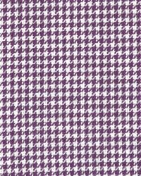 Purple Houndstooth Fabric Minnie Plum