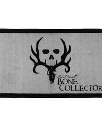 Bone Collector Black Bath Mat by