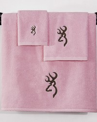 Browning Buckmark Hand Towel Pink by