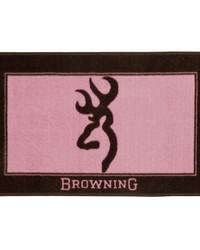 Browning Buckmark Bath Mat Pink by