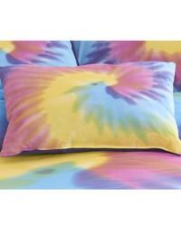 Rainbow Tie Dye Oblong Pillow by