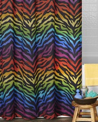 Zebra Rainbow Shower Curtain by