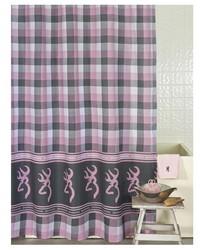 Buckmark Plaid Shower Curtain by
