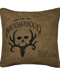 Brotherhood Square Pillow  Tan by