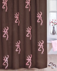 Buckmark Pink Shower Curtain by