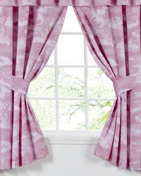 Buckmark Camo Pink Rod Pocket Curtains by
