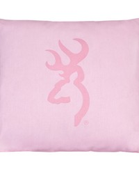 Buckmark Camo Pink Square Pillow Light by