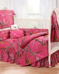 APC Fuchsia Crib Bedskirt by