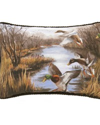 Duck Approach Oblong Pillow  Overall by