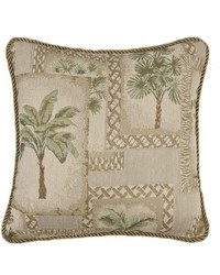 Palm Grove Square Pillow by