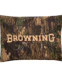 Camo Deer Oblong Pillow Black by