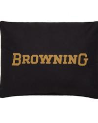 Buckmark Burgundy Oblong Pillow by