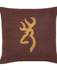 Buckmark Burgundy Pillow Red by