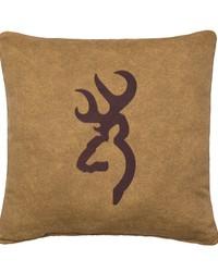 Buckmark Burgundy Pillow Tan by