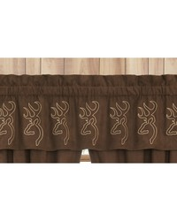 Buckmark Suede Valance by
