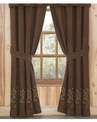 Buckmark Suede Rod Pocket Curtains by