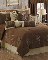 Buckmark Suede Comforter Set Queen by
