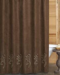 Buckmark Suede Shower Curtain by