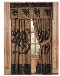 3D Buckmark Rod Pocket Curtains by