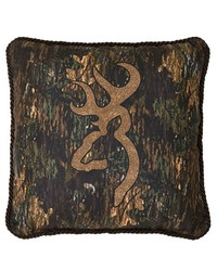3D Buckmark Square Pillow by