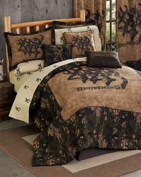 3D Buckmark Comforter Set Full by