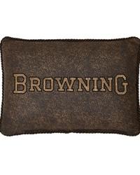 3D Buckmark Oblong Pillow by